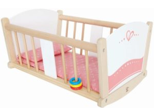 Hape Happy Doll Furniture Ξύλινο Λίκνο Κούκλας Rock-A-Bye (E3601A)