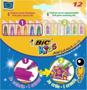 Bic 12 Μαρκαδόροι Kids Colour & Create (892221)