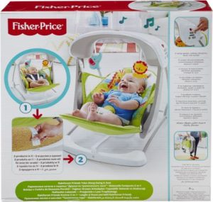 Fisher Price Rainforest Friends-Φορητή Κούνια (CCN92)