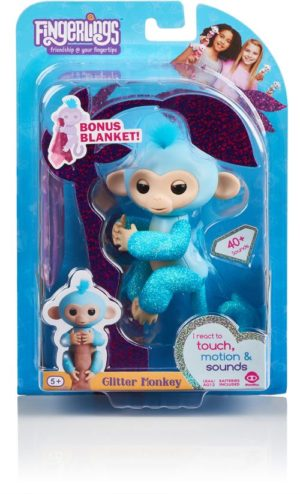 WowWee Fingerlings Glitter Monkey-4 Σχέδια (3760A)