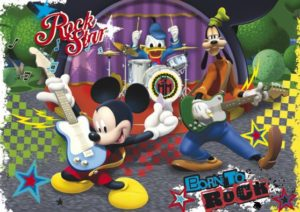 Clementoni Παζλ 104 Maxi Disney-Mickey Club House The Rock & Roll Band (23637)