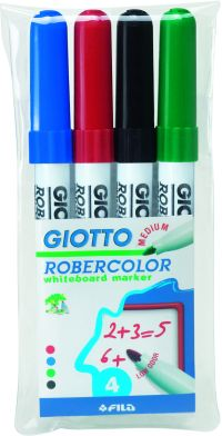 Giotto 4 Μαρκαδόροι Ασπροπίνακα Μεσαίοι Robercolor (413300)