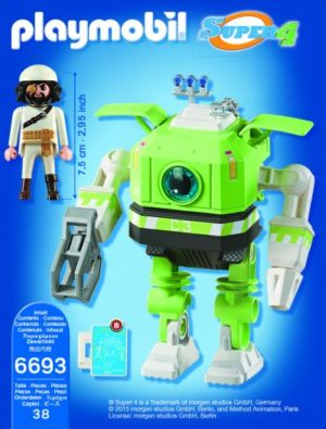 Playmobil Super 4 - Cleano Robot (6693)