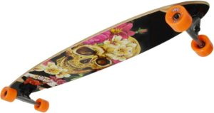 No Rules Longboard Skull-Flower (248)