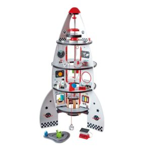 Hape Early Explorer Ξύλινο Διαστημόπλοιο Four-Stage Rocket Ship (E3021A)