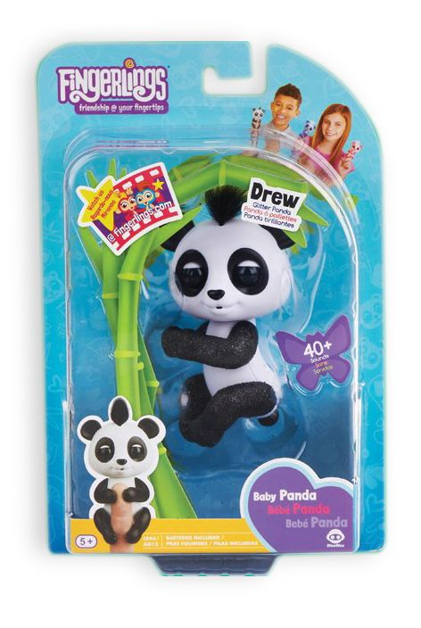 WowWee Fingerlings Baby Panda-3 Σχέδια (3560)