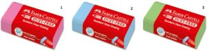 Faber Castell Γόμα Colour Dust Free-3 Χρώματα (12309268-7937)