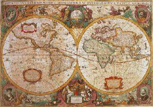 Clementoni Παζλ 1000 H.Q. Χάρτης Αντίκα (1220-31229)