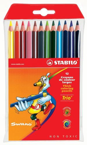 Stabilo Ξυλομπογιές Trio - 12Τμχ (1203120)