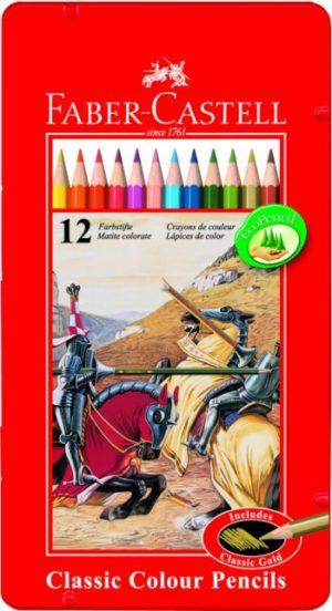 Faber Castell Ξυλομπογιές Σε Μεταλλική Συσκευασία 12Τμχ (12307478)