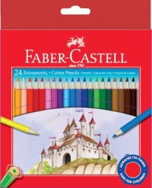 Faber Castell 24 Ξυλομπογιές TR1158 (12306202)