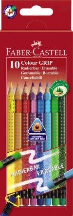 Faber Castell Ξυλομπογιές Grip Erasable-10 Χρώματα (12306757)