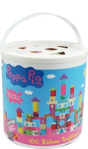 Peppa Pig 100 Ξύλινα Τουβλάκια (44110)