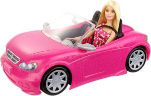 Barbie Glam Αυτοκίνητο & Κούκλα (DJR55)