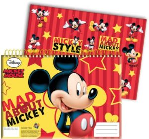 Mickey Street Μπλοκ Ζωγραφικής Α4+Stickers (340-70416)