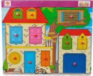 Eichorn Ξύλινο Παζλ Pin Discoverer House (100005459)