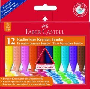Faber Castell Κηρομπογιές Grip Erasable 12Τμχ (12307620)