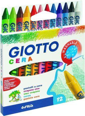 Giotto 12 Κηρομπογιές Cera 9cm (281200)