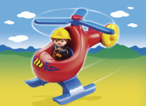 Playmobil 1.2.3 Πυροσβεστικό Ελικόπτερο (6789)