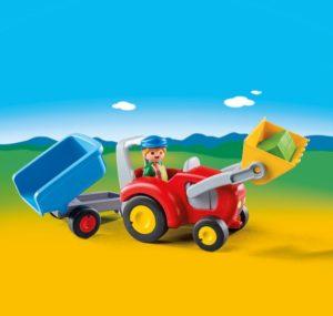 Playmobil 1.2.3 Τρακτέρ Με Καρότσα (6964)
