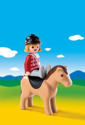 Playmobil 1.2.3 Αναβάτρια Με Άλογο (6973)