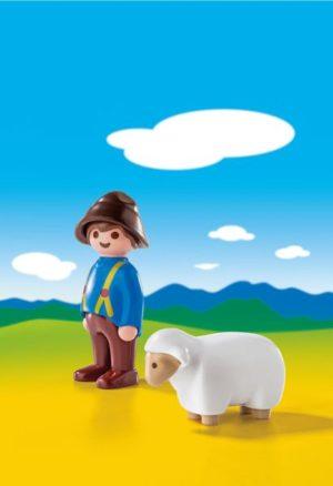 Playmobil 1.2.3 Βοσκός Με Προβατάκι (6974)