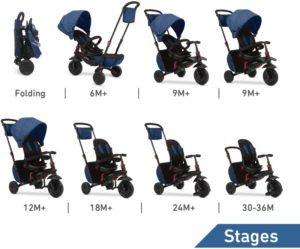 Smart Trike Τρίκυκλο Folding 700 Blue (5500800)