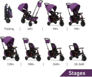 Smart Trike Τρίκυκλο Folding 700 Purple (5500100)