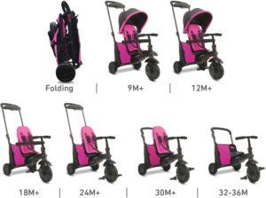 Smart Trike Τρίκυκλο Folding 500 Pink (5050200)
