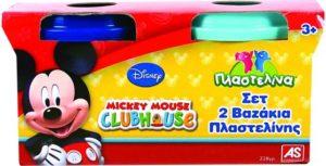 M.C.H Σετ 2 Βαζάκια Πλαστελίνης Mickey (1045-03529)