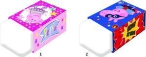 Peppa Pig Γόμα-2 Σχέδια (0482220)