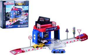 Majorette D/C Σετ Vision Gran Turismo Pit Stop +1 Αυτοκίνητο (212050002)