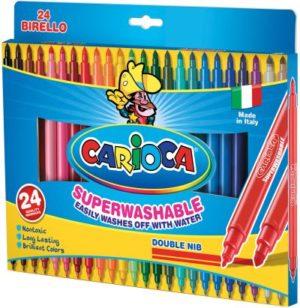 Carioca Birello 24 Μαρκαδόροι Fine & Maxi Λεπτοί (41521)