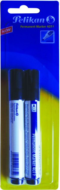Pelikan Μαρκαδόροι Οινοπνεύματος 407F - Μαύρο 2Τμχ (963447)