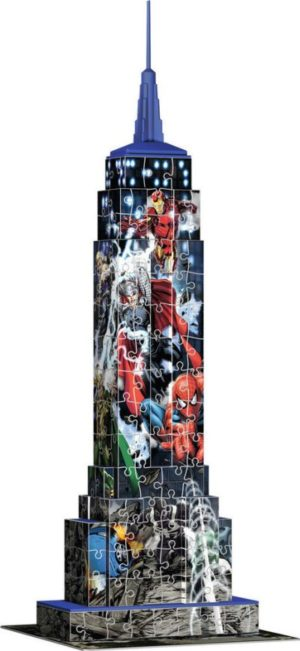 Ravensburger Πάζλ 3D Εmpire State Building Marvel Avengers 216Tμχ (12517)