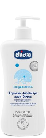 Chicco Αφρόλουτρο-Σαμπουάν Baby Moments 750ml (02843)