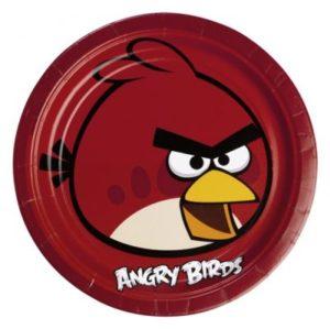 Πιάτα 23cm Angry Birds 8 Τμχ (552360)