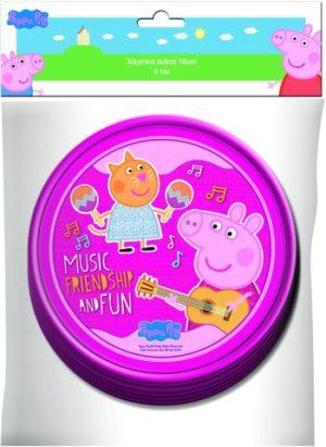 Peppa Pig Πιάτα Χάρτινα 23cm 6Τμχ-2 Σχέδια (0480939)