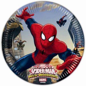 Πιάτα Μεσαία 20cm Spiderman Web Warriors 8Τμχ (85152)