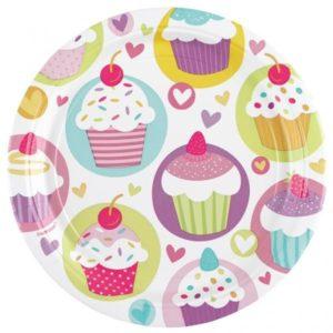Πιάτα 23cm Cupcake 8Τμχ (997209)