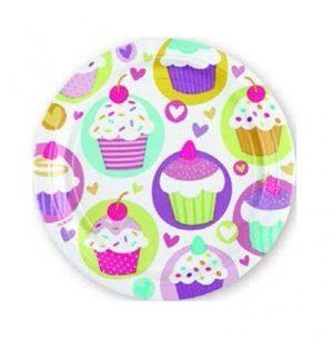 Πιάτα 18cm Cupcake 8Τμχ (997210)