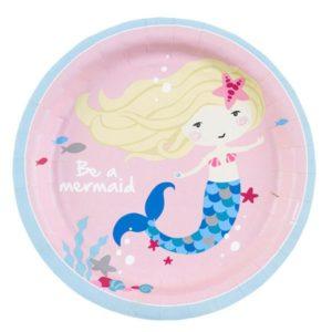 Πιάτα Be A Mermaid 18cm-8Τμχ (M9903031)