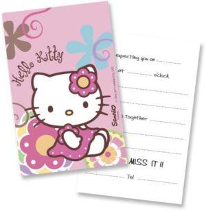 Προσκλήσεις Hello kitty Bamboo 6 Τμχ (118132)