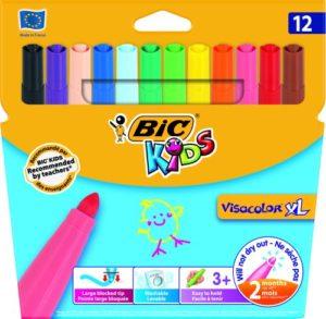 Bic Μαρκαδόροι Ζωγραφικής Kids Visacolor XL 12Τμχ (829007)