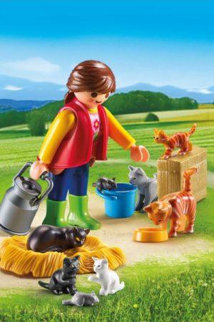 Playmobil Αγρότισσα & Γατάκια (6139)