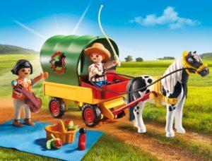 Playmobil Άμαξα Με Πόνυ & Παιδάκια (6948)
