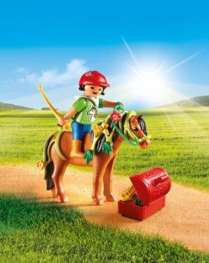 Playmobil Πόνυ Με Λουλουδάκια & Κοριτσάκι (6968)
