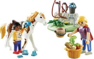 Playmobil Βαλιτσάκι Φροντίζοντας Τα Άλογα (9100)