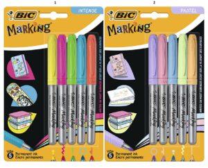 Bic Μαρκαδόρος Ανεξίτηλος Marking Pastel Color-2 Σχέδια (942865)