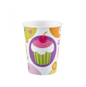 Ποτήρια 250ml Cupcake 8Τμχ (997211)